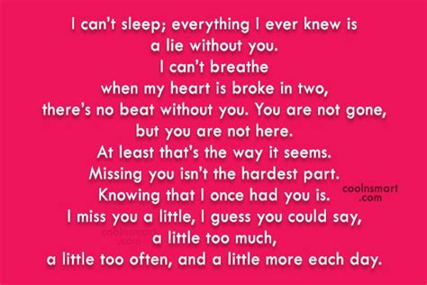 I Cant Stop Missing You Quotes