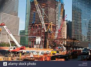Ground Zero  New Freedom Tower Construction Site With