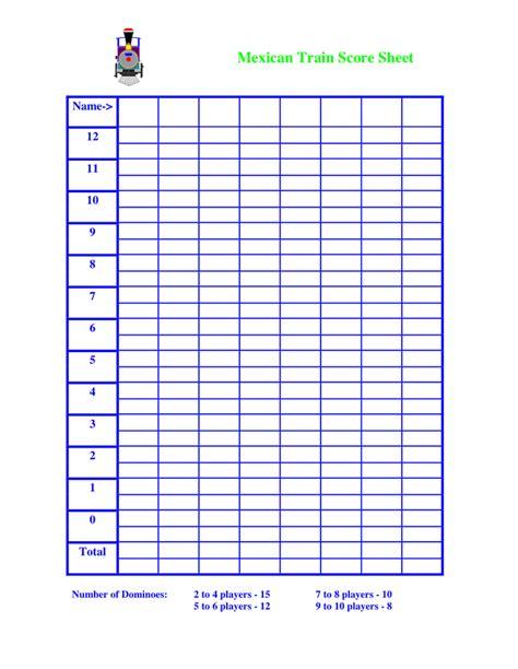 mexican train score sheet   documents