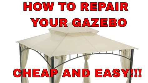 How To Fix Your Gazebo Cheap And Easy!!! Summer Veranda