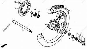 Honda Motorcycle 1987 Oem Parts Diagram For Front Wheel