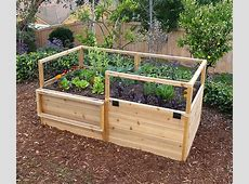 3' x 6' Raised Garden Bed With Hinged Fencing Eartheasycom