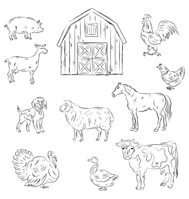 farm animals cut outs best photos of cut out farm animal patterns farm animals