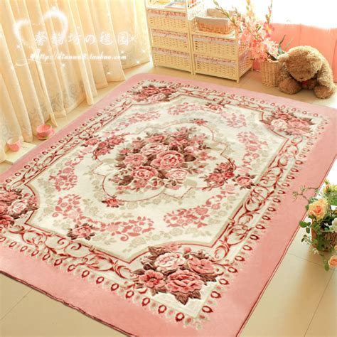 pink bedroom rug winlife romantic pink rose rug for living room elegant 12847 | WINLIFE Romantic Pink Rose Rug For Living Room Elegant American Country Style Carpet Bedroom Branded Rug