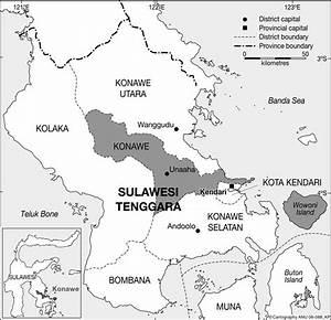 Map Of Kabupaten Konawe  Southeast Sulawesi