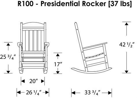 ship polywood 174 presidential slatted rocker rivanna