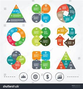 Circle Triangle Diagram Charts Business Icons Stock Vector