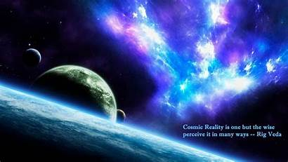 Planets Cosmic Fantasy Space Shaped Reality Veda