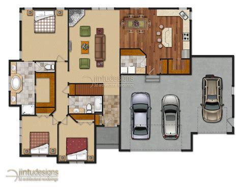 chicago bungalow house plans color floor plan residential floor plans 2d floor plan