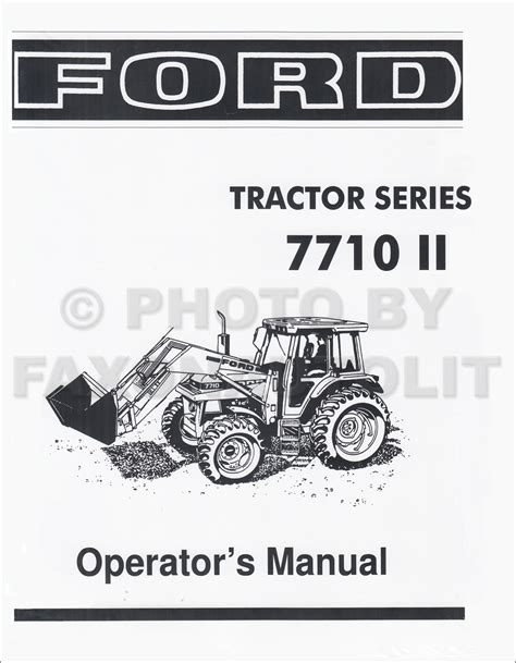 ford  ii tractor owners manual reprint