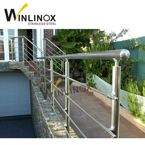In this case, stainless steel clamps can be used for attaching glass panels to the railing system. China Outdoor Steps Stainless Steel Handrail Pipe Balustrade Baluster - China Stainless Steel ...