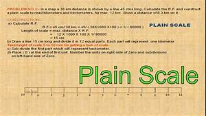 Plain Scale Example - Engineering Drawing