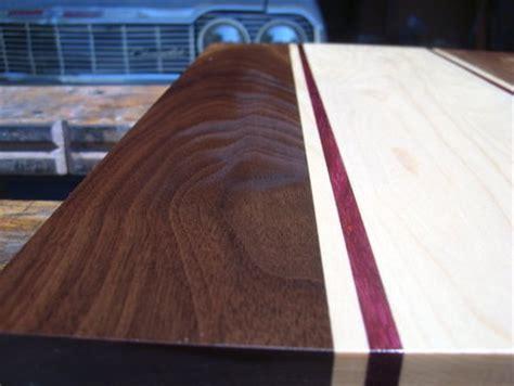 walnut purple heart  maple cutting board  ideas