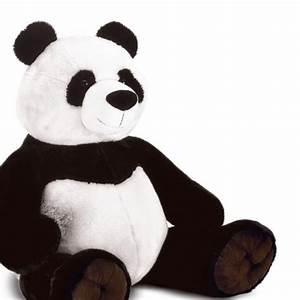 Peluche Géante Panda : peluche panda assis 95 cm plush company mynoors ~ Teatrodelosmanantiales.com Idées de Décoration