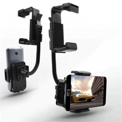 car mount holder cellphone stand rear view mirror clip for gps pda mp3 free shipping dealextreme