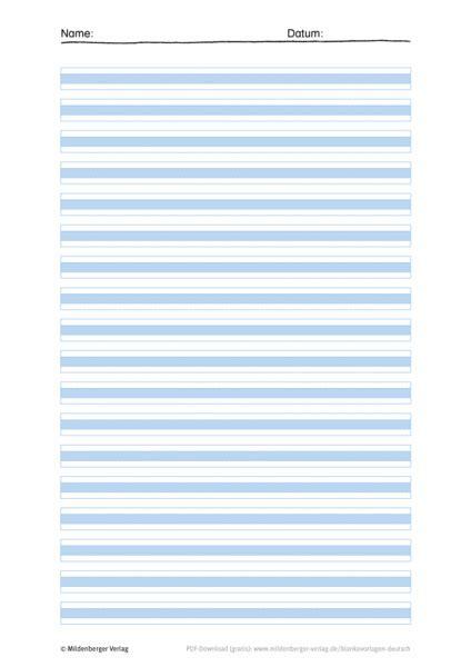 Linienblatt a4 linienblatt a4, vergleichen. Mildenberger Bildungswelt: Schreibblätter jetzt kostenlos anfordern!