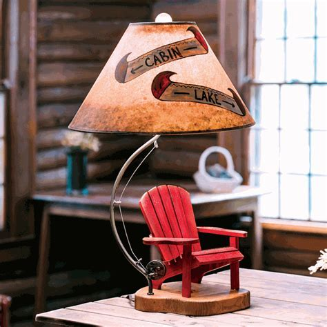 Adirondack Chair Lake Table Lamp
