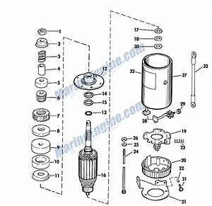 Johnson Electric Starter Group Parts For 1967 40hp Rds