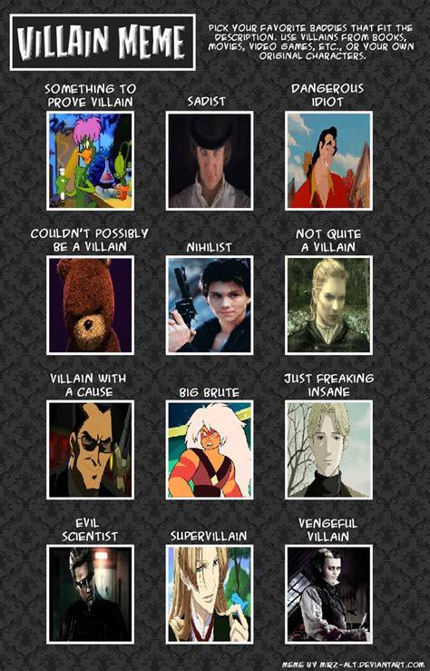 Villain Meme - jasonpictures villains meme by jasonpictures on deviantart