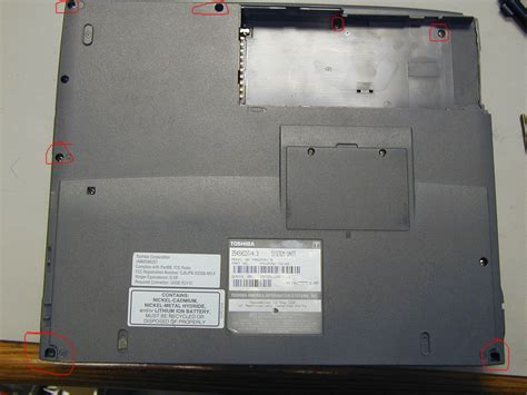 disassembling toshiba satellite 2545 and fixing power button