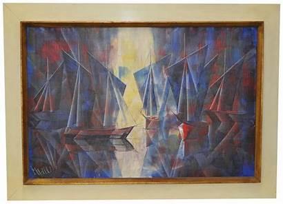 Mid Century Modern Painting Chairish Andre Marcel