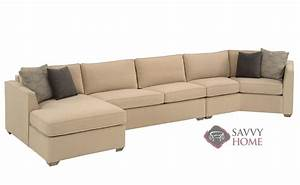 strata fabric chaise sectional by lazar industries is With sectional sofa with angled chaise
