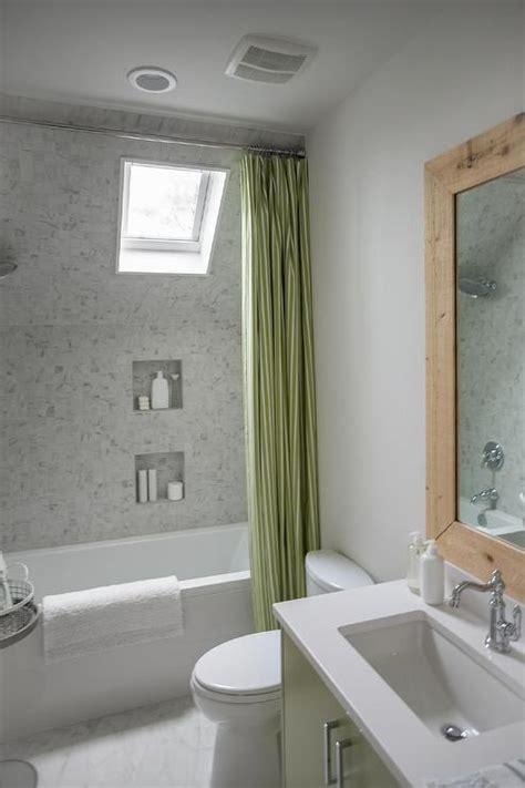 dormer shower  tub combo cottage bathroom sherwin