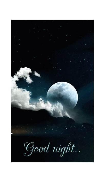 Moon Animated Night Sky Gifs Water Earth