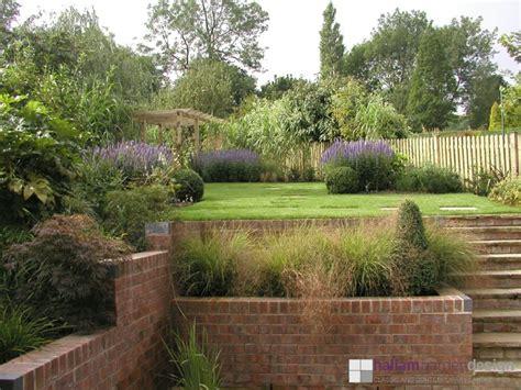 slope garden design sloping garden brincliffe edge