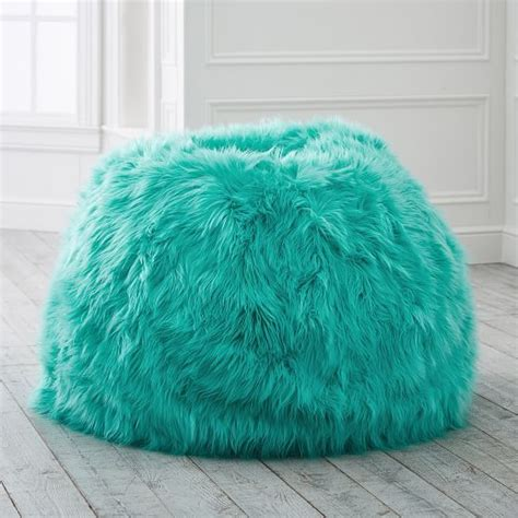 Room Planner Pbteen by Himalayan Faux Fur Pool Beanbag Slipcover Medium In