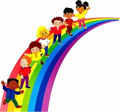 Kindergarten Clipart Pre Rainbow Children Transparent Background