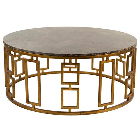 round stone coffee table lazar global bazaar antique brass round stone coffee table