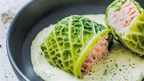 cuisine chou vert recette de chou farci au saumon l 39 express styles