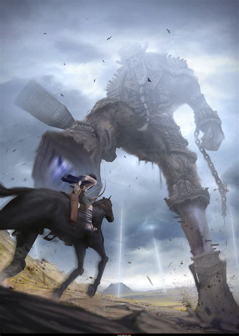 Naughty Dog Artist Draws Amazing Shadow Of The Colossus