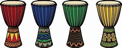 Drum African Clipart Drums Djembe Bongo Circle
