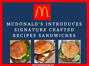McDonald's Introduces Signature Crafted Recipes Sandwiches ...