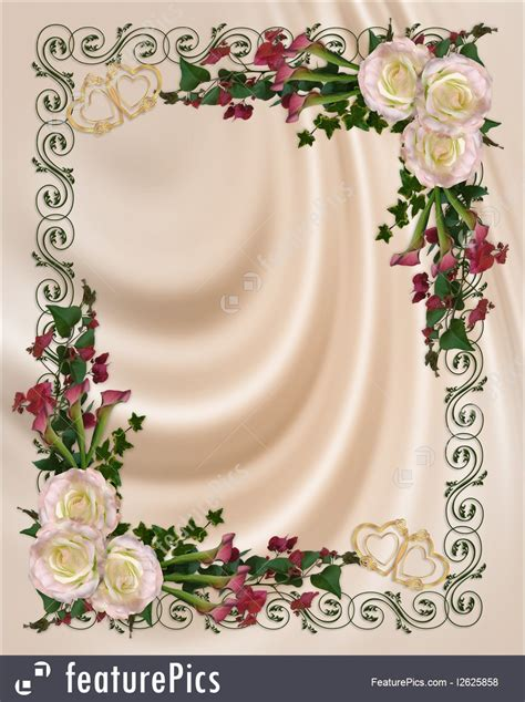 wedding invitation elegant floral illustration