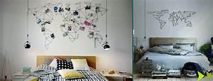 Carte Du Monde Deco Murale : idee deco chambre carte du monde 215421 la ~ Dailycaller-alerts.com Idées de Décoration