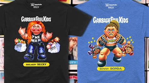 wwe partners  garbage pail kids     shirts