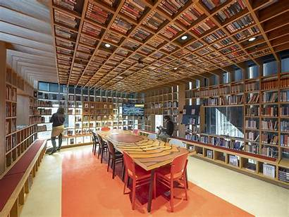 Library Interior Class Tilburg Mecanoo Completes Civic