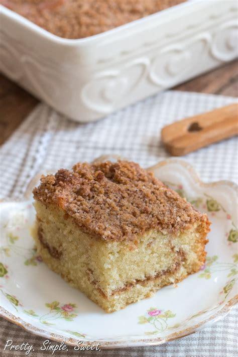 cinnamon streusel coffee cake pretty simple sweet