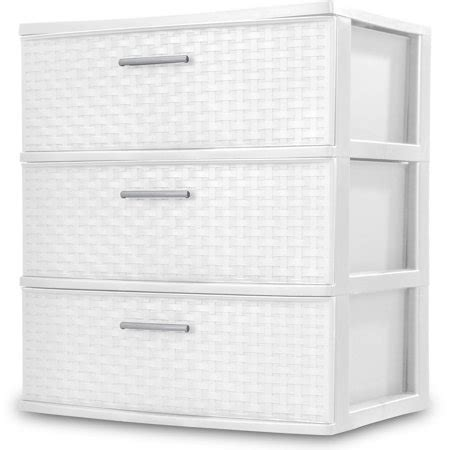 sterilite 5 drawer wide tower white sterilite 3 drawer wide weave tower white walmart
