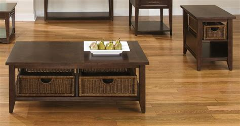 Basket Coffee Table And End Table Set Contemporary Coffee