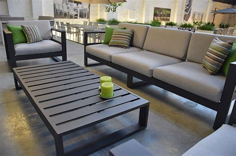 canapé de jardin 3 places en alu azuro