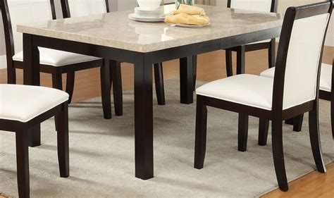 Poundex F2296 Brown Marble Dining Table Stealasofa