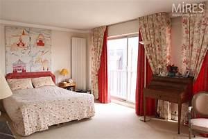 chambre romantique rouge et blanche c0589 mires paris With chambre blanche et rouge