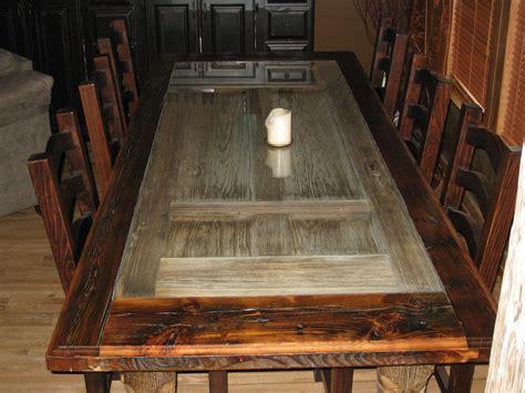 handmade reclaimed barnwood dining room table  rusty