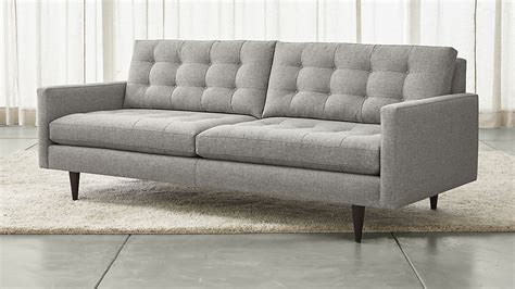 crate and barrel sofa reviews petrie mid century sofa reviews crate and barrel
