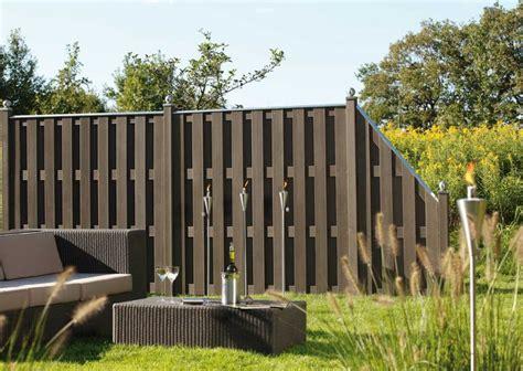 Sichtschutz Garten Wpc by Sichtschutzzaun Holz Wpc Montiert Oder Angeliefert