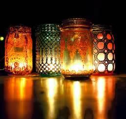 jar lanterns boho hanging lantern brilliant light aqua mason jar candle
